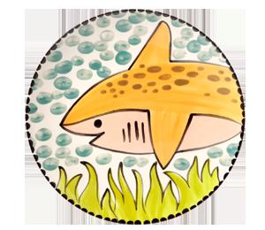 Voorhees Happy Shark Plate