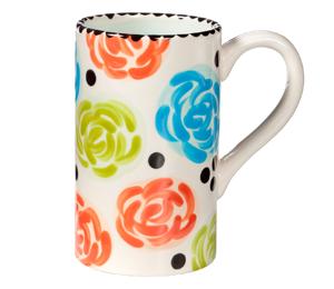 Voorhees Simple Floral Mug