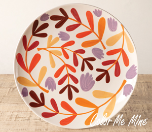 Voorhees Fall Floral Charger