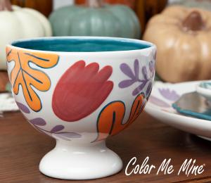 Voorhees Floral Pedestal Bowl