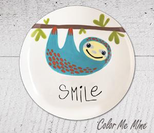 Voorhees Sloth Smile Plate