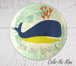 Voorhees Whale Love Plate