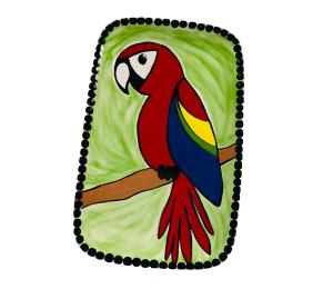 Voorhees Scarlet Macaw Plate
